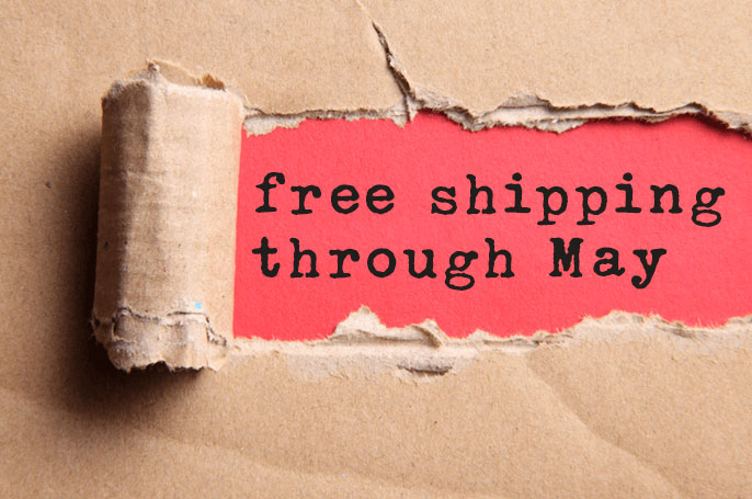 free shipping through May