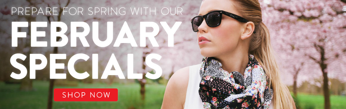 February Sunglasses Specials