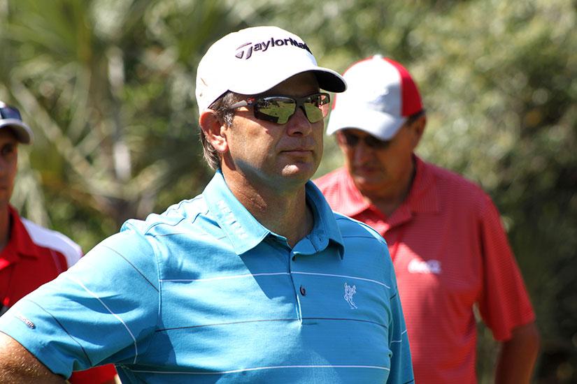 pro golfer wearing sunglasses