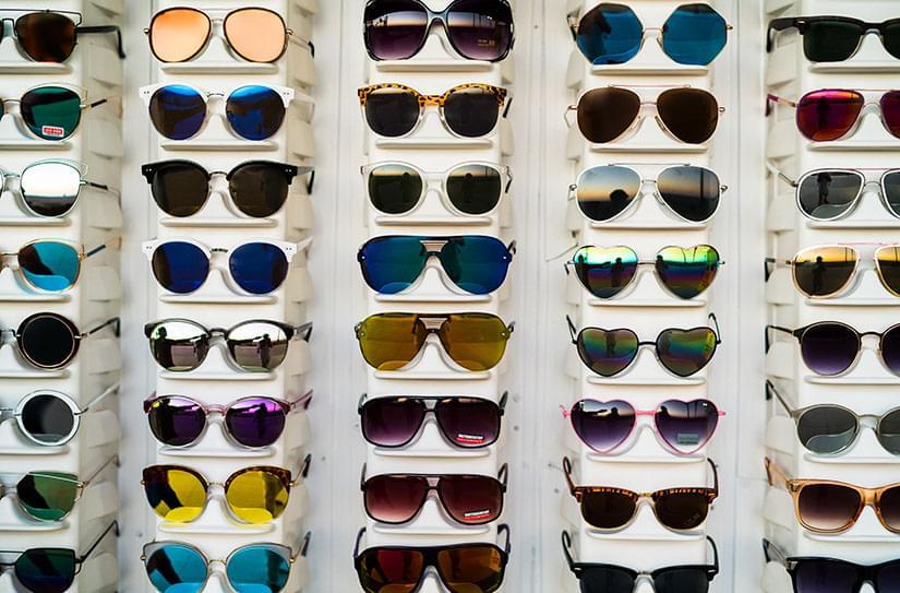 vintage sunglasses display